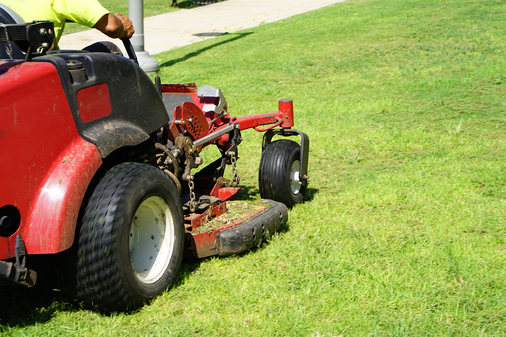 A commercial lawn mower for national program